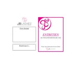 Cartes JB-lashes pack de 50